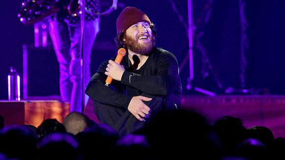 INGLEWOOD, CA - DECEMBER 09: Mike Posner performs on stage during KROQ Absolut Almost Acoustic Christmas at The Forum on December 9, 2018 in Inglewood, California. (Photo by Kevin Winter/Getty Images for KROQ/Entercom)
