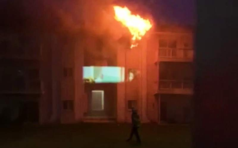 Video captured intense flames from the third floor apartment.