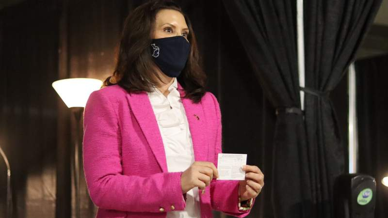Governor Gretchen Whitmer received a first dose of the safe and effective Pfizer-BioNTech vaccine after becoming eligible in the latest phase of prioritization that includes all Michiganders age 16 years or older.