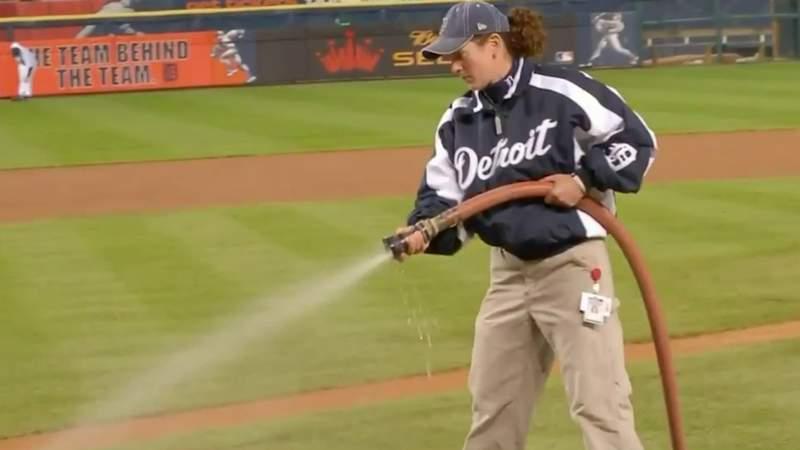 Detroit Tigers head groundskeeper marks 22nd season in her 'dream' job