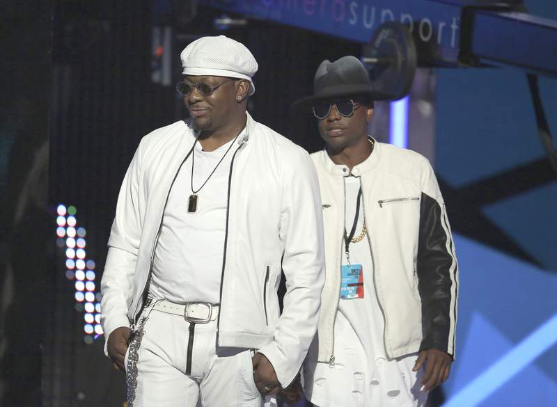 FILE - Bobby Brown, left, and Bobby Brown Jr. appear at the BET Awards in Los Angeles on June 26, 2016. Brown was found dead at a Los Angeles home. He was 28. Los Angeles Police told The Los Angles Times officers were responding to a medical emergency at an Encino home when they found Bobby Brown Jr.s body around 1:50 p.m. on Wednesday, Nov. 18, 2020. (Photo by Matt Sayles/Invision/AP, File)