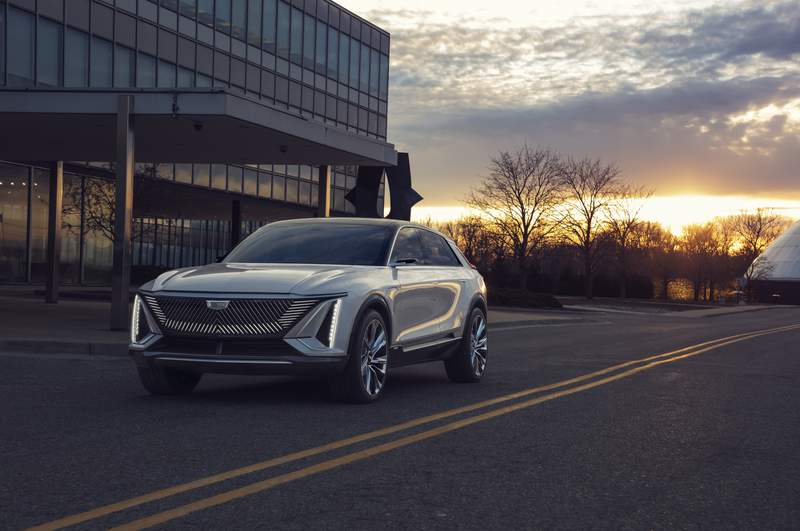 """""""Cadillac LYRIQ pairs next-generation battery technology with a bold design statement which introduces a new face, proportion and presence for the brand's new generation of EVs."""""""