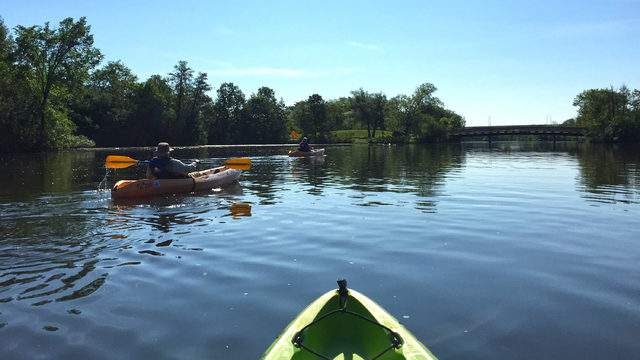 Kayakers on the Huron River (Photo: Destination Ann Arbor)