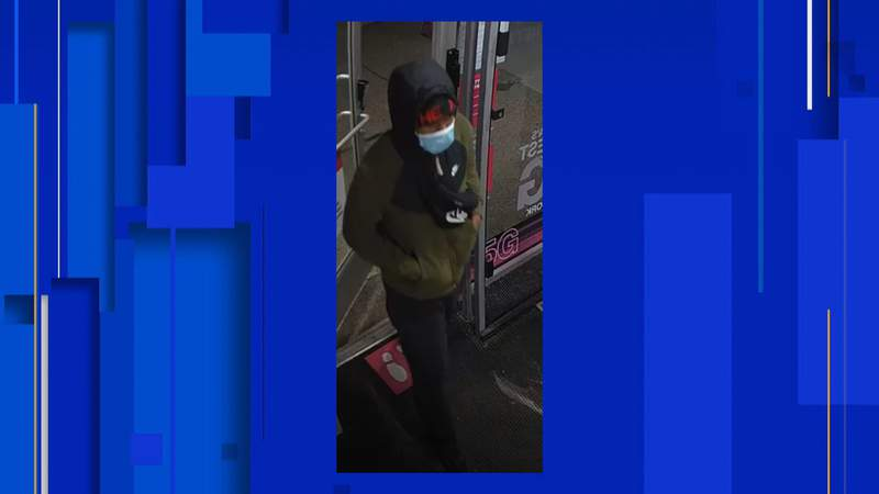 Detroit police searching for a man in connection with assault and larceny. Police said the incident happened on Nov. 5, 2020.