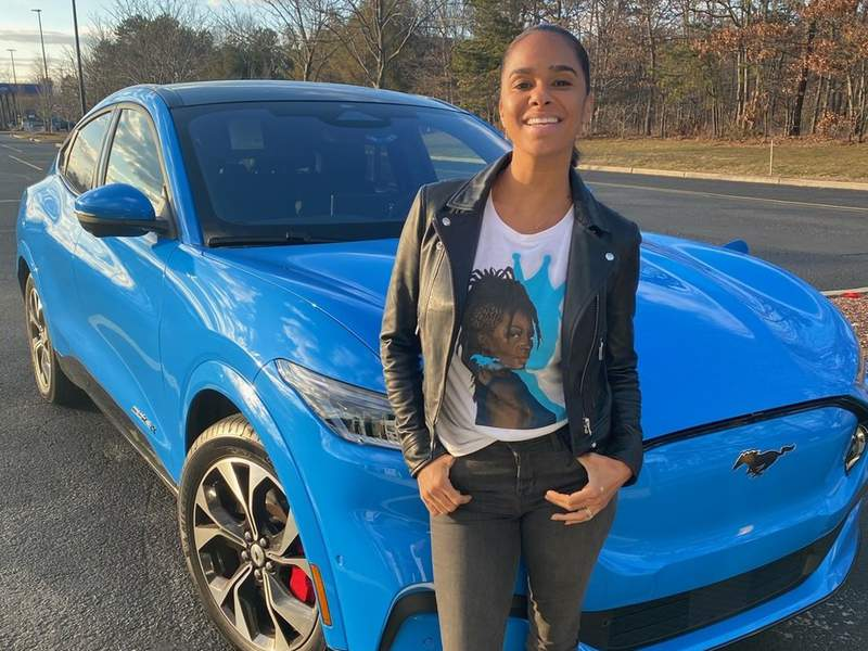 Misty Copeland with Ford Mustang Mach-E