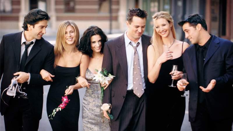 """Friends"" cast: David Schwimmer, Jennifer Aniston, Courteney Cox, Matthew Perry, Lisa Kudrow and Matt Leblanc."