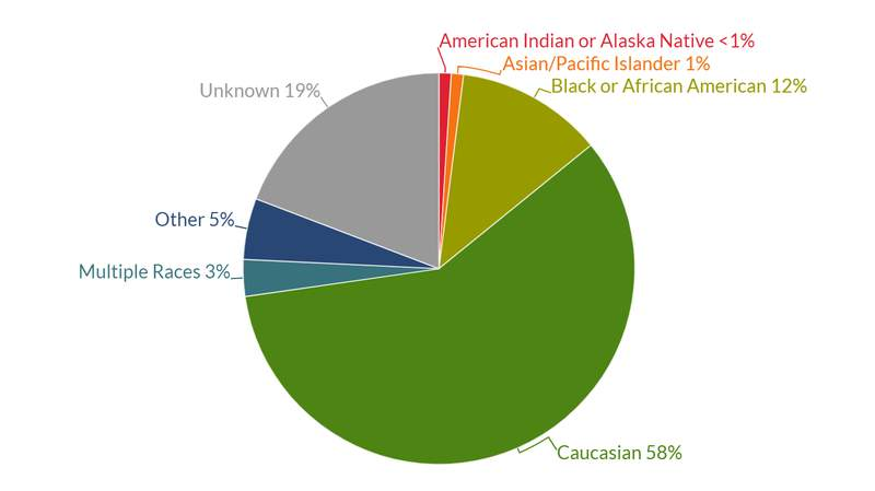 Michigan COVID-19 cases by race as of Sept. 10, 2021.