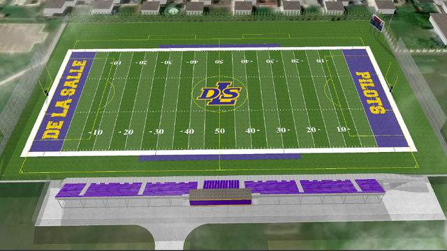 The design of the new field to host the De La Salle Pilots' athletic teams in 2019