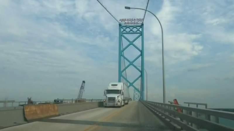 The Ambassador Bridge.