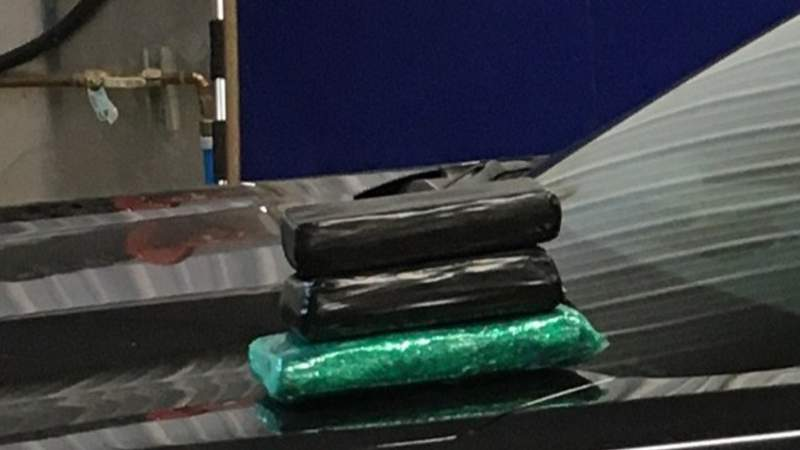 The three kilograms of fentanyl seized during a traffic stop on I-94 in Van Buren County. (Courtesy Michigan State Police/WOOD TV)