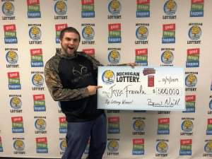 Drummond Island Man Wins $500,000 Playing the Michigan Lottery's $500,000 Wild Time Instant Game