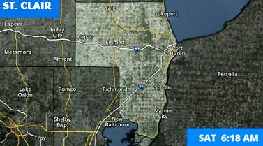 The National Weather Service has issued a winter weather advisory for Genesee, Lapeer and St. Clair counties.