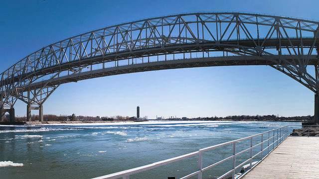 Blue Water Bridge in Port Huron, Michigan