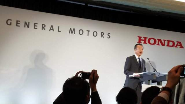 GM and Honda announced the new venture at a joint press conference Monday morning.