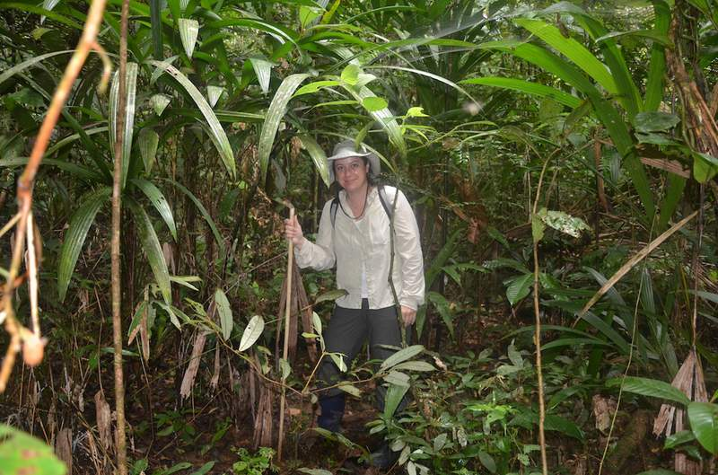 Marcy Sieggreen in the Amazon.