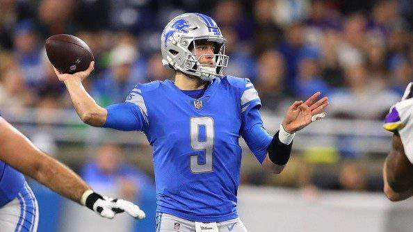 Matthew Stafford #9 of the Detroit Lions throws a pass in the first half against the Minnesota Vikings at Ford Field on December 23, 2018 in Detroit, Michigan. (Gregory Shamus/Getty Images)