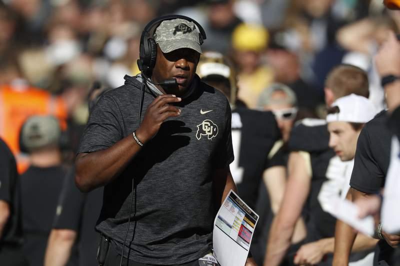 Colorado Buffaloes head coach Mel Tucker in the first half of an NCAA college football game Saturday, Nov. 9, 2019, in Boulder, Colo. (AP Photo/David Zalubowski)