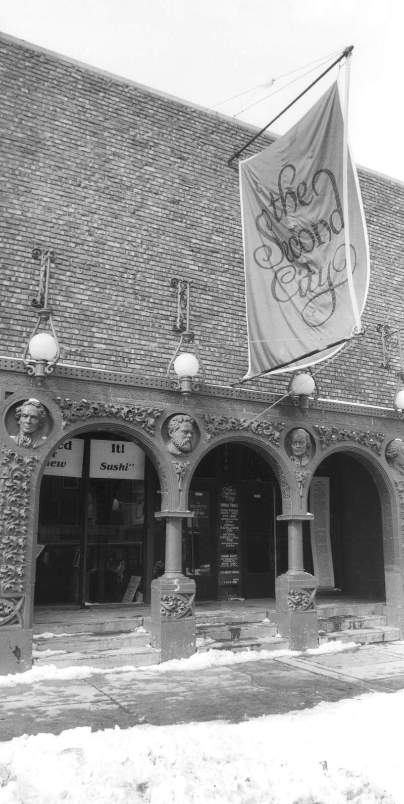 FILE - This March 6, 1982, file photo, shows the home of the famed improvisational troupe, Second City, in Chicago's Old Town section. Chicagos Second City comedy theater is up for sale. The sale, announced Tuesday, Oct. 6, 2020, is the second in the companys 60-year history. (AP Photo/Fred Jewell, File)