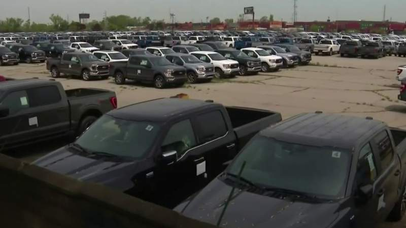 Computer chip shortage creating long wait times for pickup truck buyers