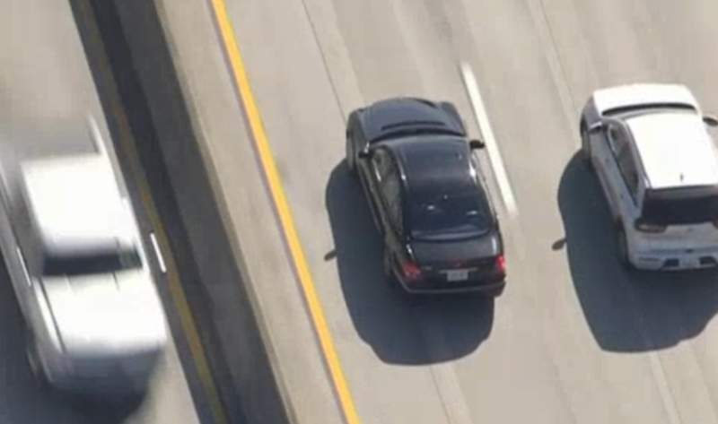 A Mercedes-Benz eluded police in southern California on Jan. 31, 2020.