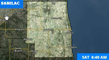 The National Weather Service has issued a winter storm watch for Sanilac County until 10 a.m. Sunday.