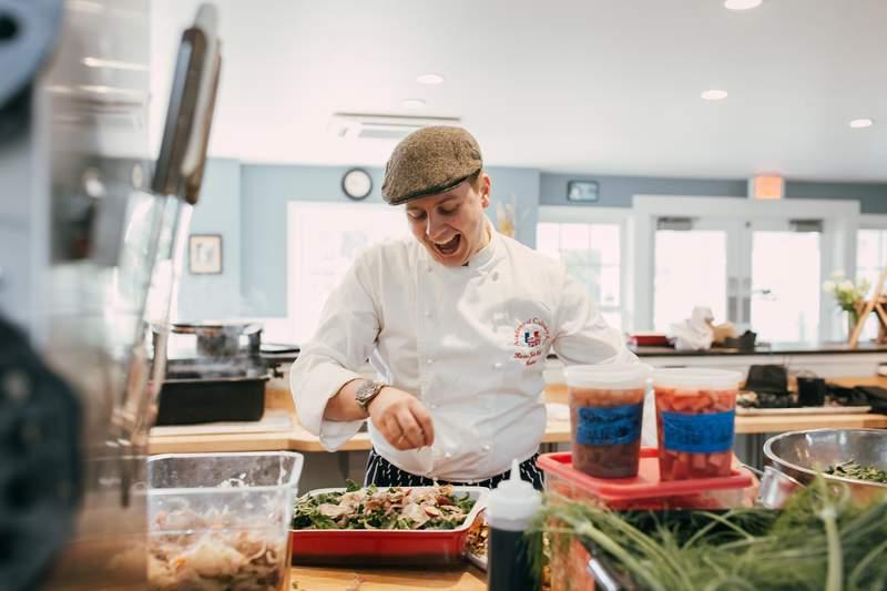 Executive chef and founder of Zingerman's Cornman Farms, Kieron Hales.