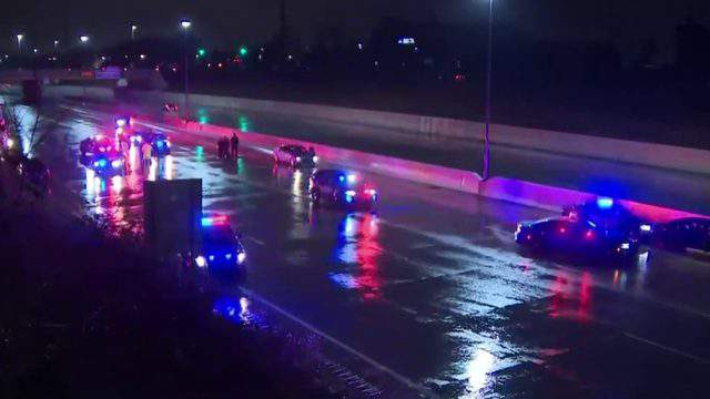 The shooting oustide a Livonia FedEx facility led to a middle-of-the-night police chase on Interstate 96 on Nov. 26, 2018. (WDIV)