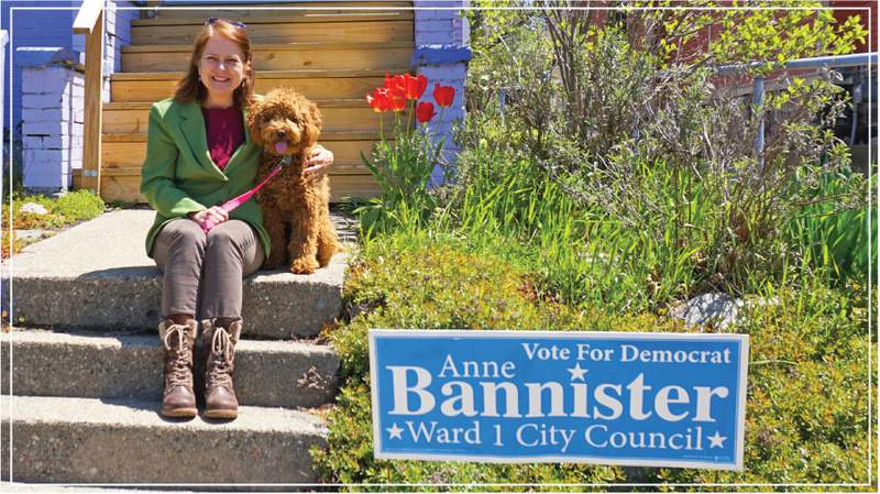 Anne Bannister is running for re-election for the Ward 1 city council seat.