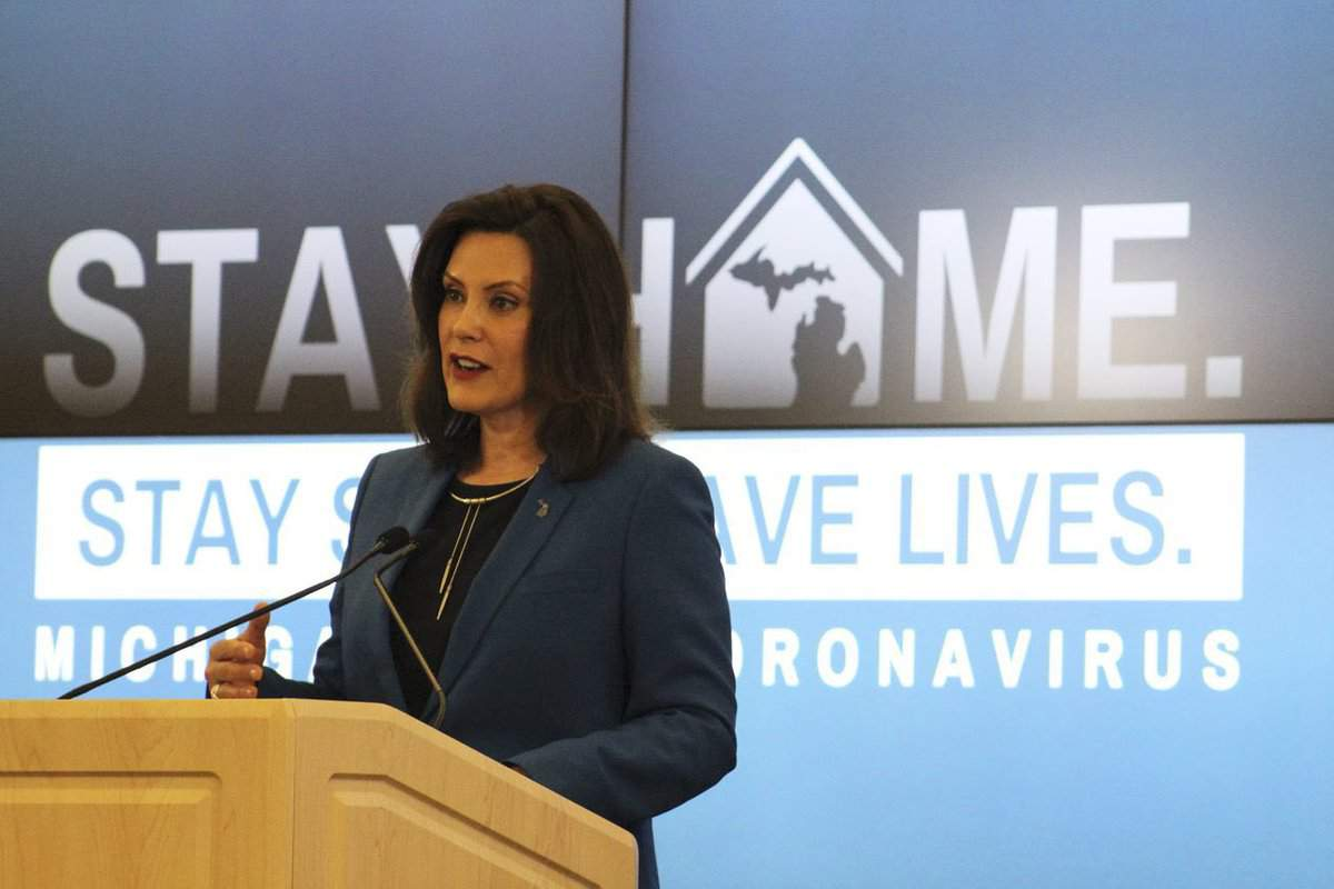 Michigan Gov Gretchen Whitmer Extends Stay At Home Order Until May 28