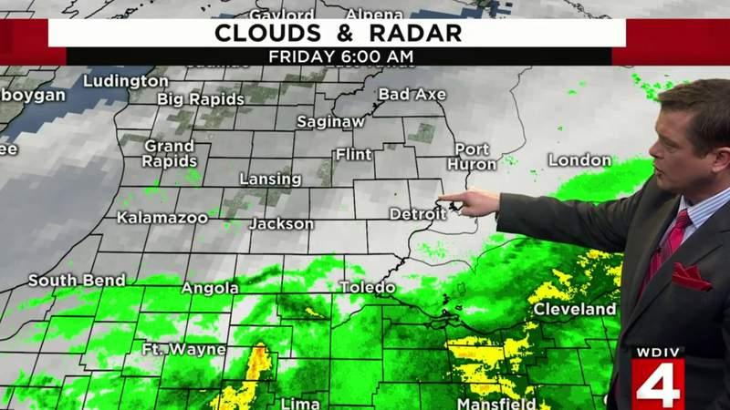 Weather forecast: Rain starts Friday, Jan. 10, 2020 in Metro Detroit