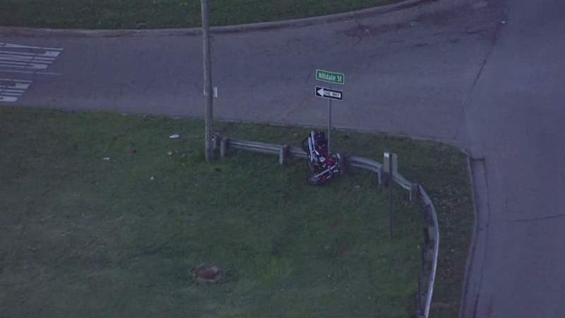 The scene of a May 6, 2021, motorcycle crash in Clinton Township.
