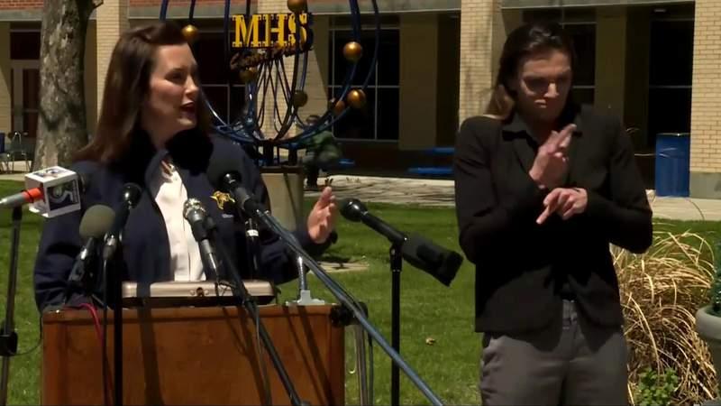 Michigan Gov. Gretchen Whitmer addresses devastating floods in Midland County