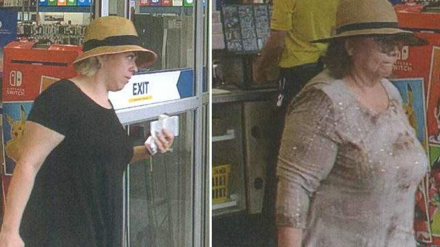 The two women wanted by the Canton Police Department for credit card theft. (WDIV)