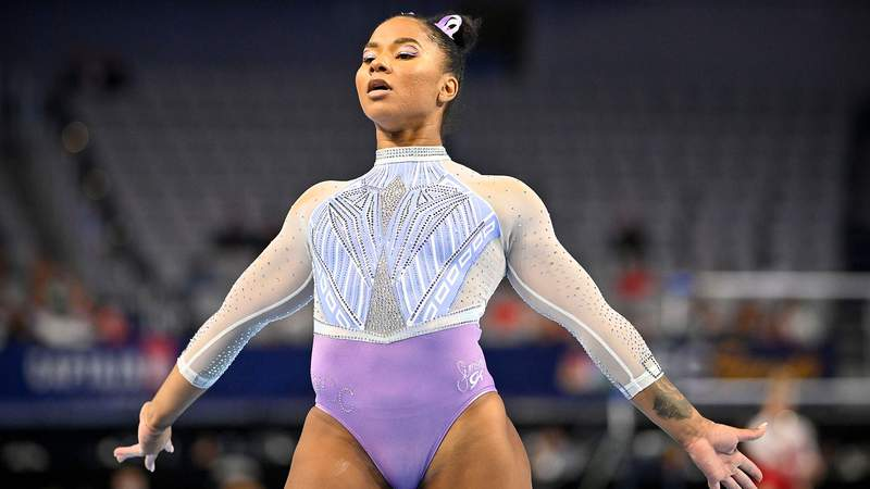 Jordan Chiles, Simone Biles' teammate at the World Champions Centre, is a frontrunner to land on the Tokyo team amid a breakout year.