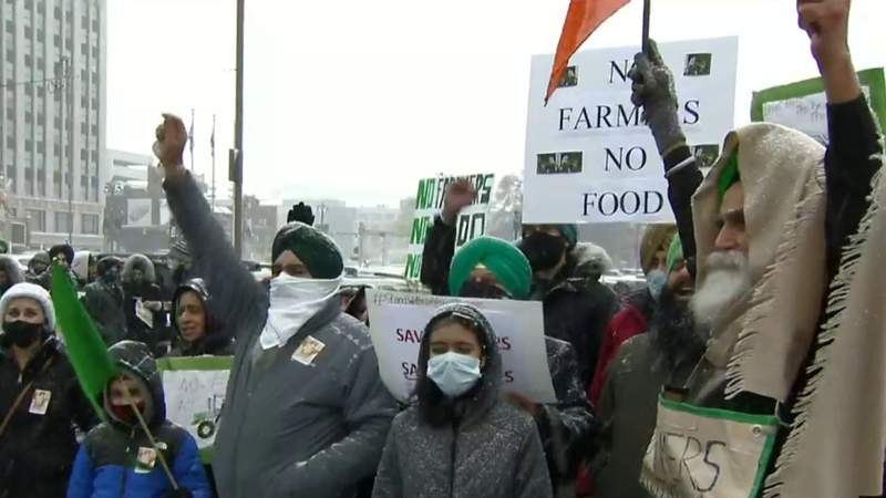 Indian Americans hold Metro Detroit car rally in support of India farmers