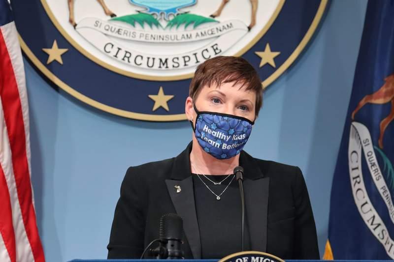 MDHHS Director Elizabeth Hertel. (Michigan Office of the Governor via AP)