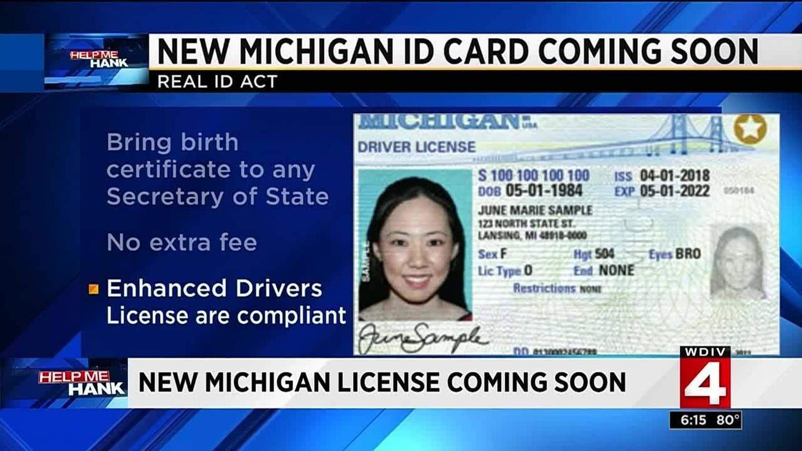 Real ID Act: Why you may need to apply for a new Michigan license, ID card  before 2020