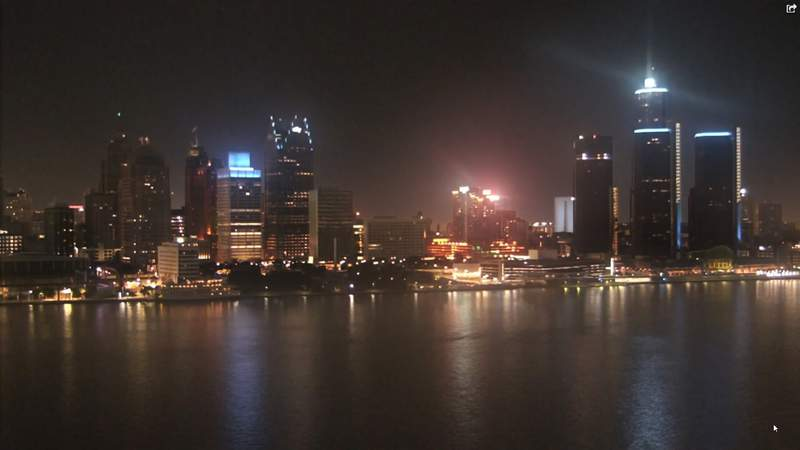View of Detroit from the Windsor sky camera on Sept. 19, 2020 at 9:15 p.m.
