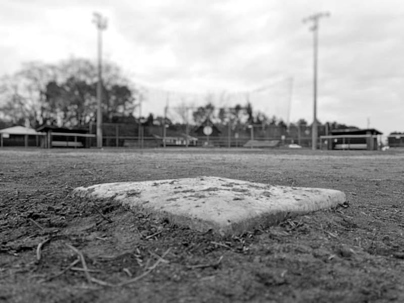 Old baseball diamond