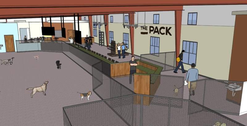 Rendering of Pack Indoor Dog Park.