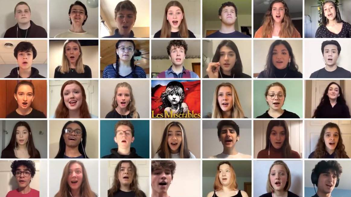 "Members of the cast of Pioneer Theatre Guild's spring production of Les Miserables perform ""One Last Day"" from their homes."