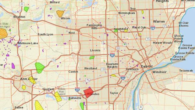 DTE Energy power outage map: 62K customers without power in ...