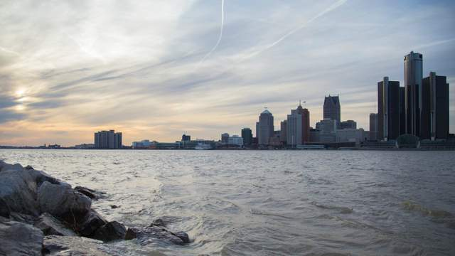 A view of Detroit from Windsor. (Amber Ainsworth/WDIV)