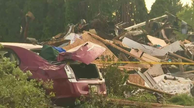The National Weather Service confirmed a tornado touched down in Huron County on June 26, 2021.