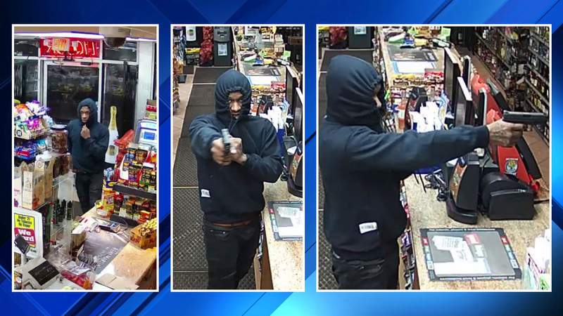 A man suspected of robbing a Southfield party store on Jan. 23, 2020.