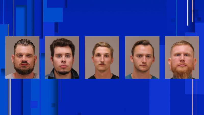 From left to right: Adam Fox, Ty Garbin, Daniel Harris, Kaleb Franks and Brandon Caserta.