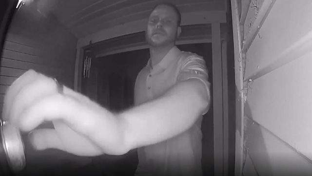 A man was caught on video trying to break into a Waterford Township home on Aug. 4, 2019. (WDIV)