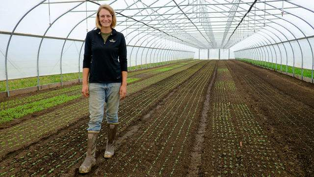 Co-owner Jill Lada at Green Things Farm. (Credit: The Conservation Fund)
