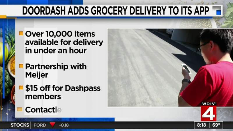 DoorDash adds grocery delivery to its app