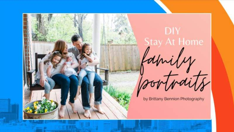 Local photographer helps you with your at home portraits